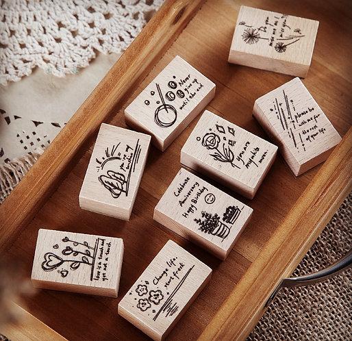Graffiti Art Rubber Stamps (Choose Design)