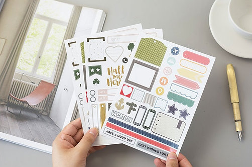 Journal Label Sticker Sheets