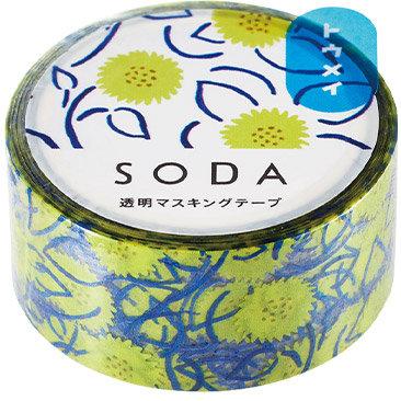 SODA Transparent Masking Tape - Sunflower CMT20-006