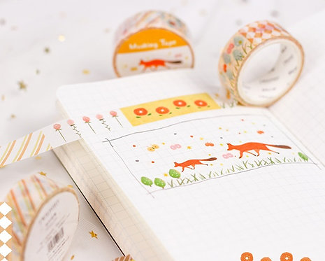 Cute Illustrations Washi Tape / Masking Tape (Choose Design)