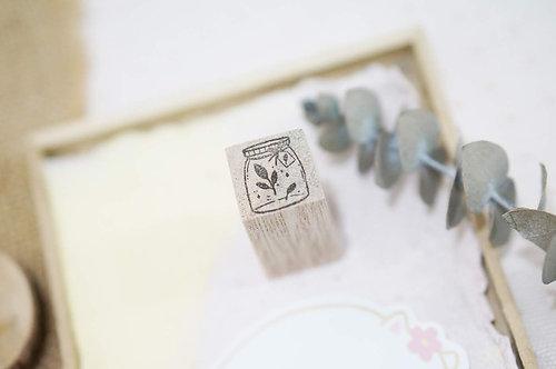 Black Milk Project Rubber Stamps Mini Jar Leaf