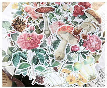 Floral Washi Sticker Flakes Pack