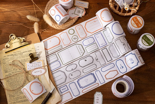 Label and Frame Paper Tapes with release paper
