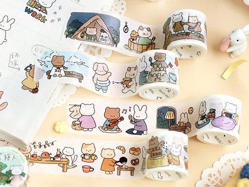 Cute Animals Washi Tape (6 designs)