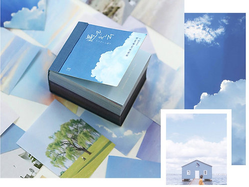 sky scenery paper sheets, scrapbooking supplies