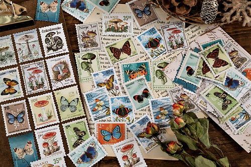 Postage Stamps Sticker Flakes Pack (Choose Set)