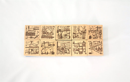 Chamil Garden Vol. 2 Cafe Series Rubber Stamp