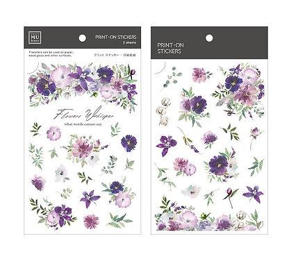MU Print-On Sticker - Flowers Whisper 171