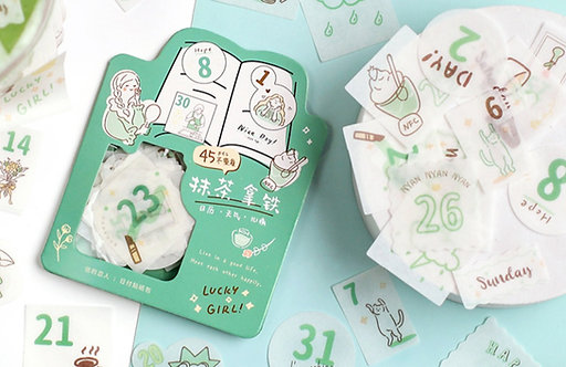 daily planner sticker flakes