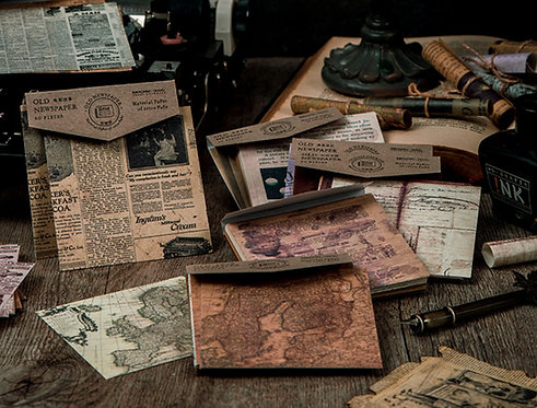 Old Newspaper Paper Pack (60 sheets)