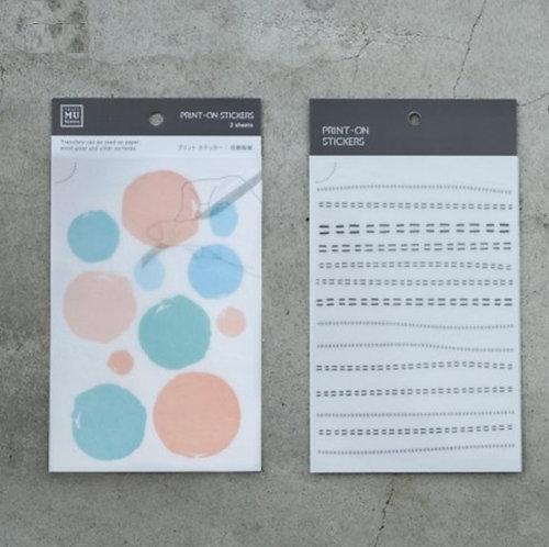MU Print-On Sticker - Hand Drawing 023