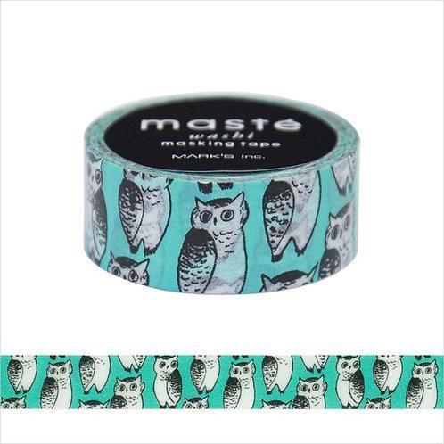 maste x marble SUD Owl washi tape (15mm)
