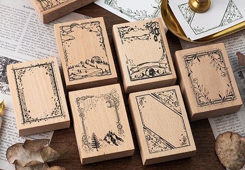 border frame rubber stamps