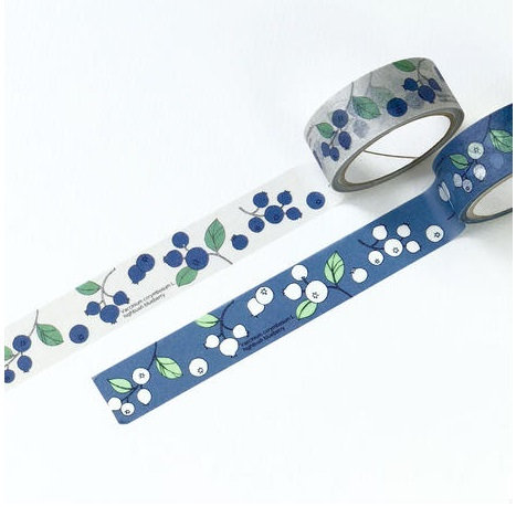 Hutte Botanical Garden Blueberry Washi Tape / Masking Tape