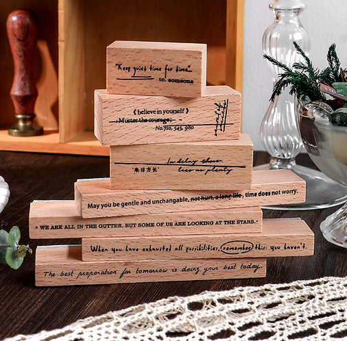 Positive Quotes Long Rubber Stamp Set