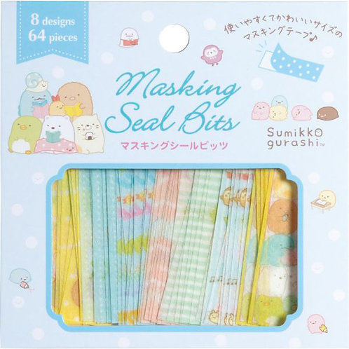 San X Sumikko Gurashi Masking Seal Bits - Happy Life