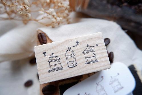 laabiri coffee mills rubber stamp