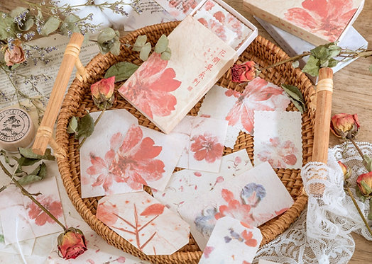 Red Carnation Flower Papers in Box
