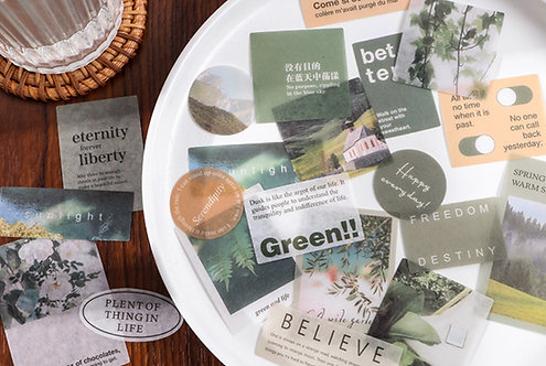 Green Scenery Sticker Flakes Pack