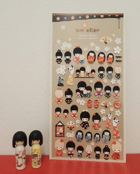 suatelier sticker kokeshi 1010