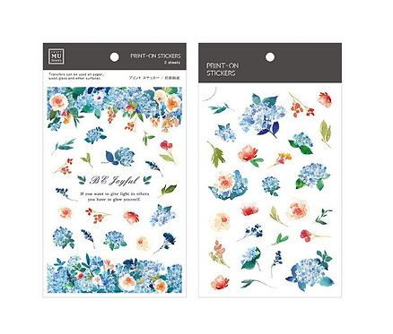 MU Print-On Sticker - Blue Hydrangea 086