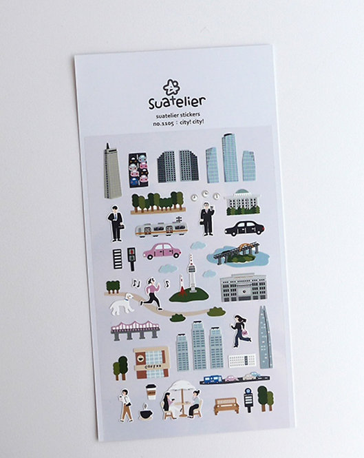 Suatelier Stickers - City! City! (No. 1105)