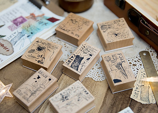 art hand rubber stamp