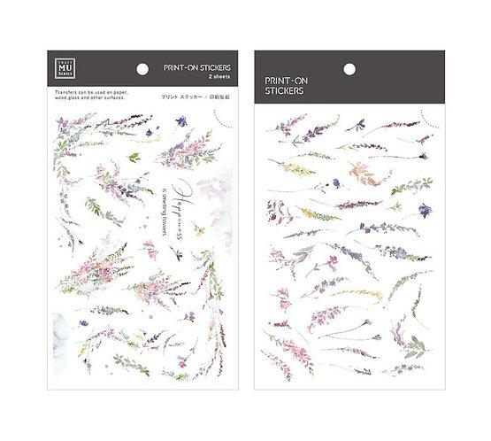 MU print on stickers 147 flowers