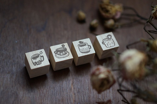 Black Milk Project Rubber Stamp - Tea Time Mini Set
