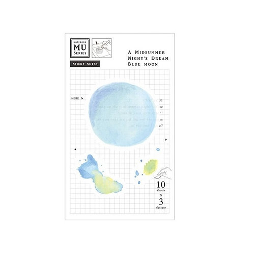 MU Watercolor Translucent Sticky Note] Chap.01 A Midsummer Night Blue Moon