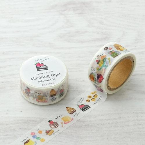 papier platz hankodori cake washi tape