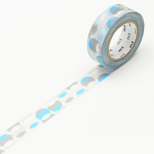 mt DECO Overlapped Dot Blue masking tape