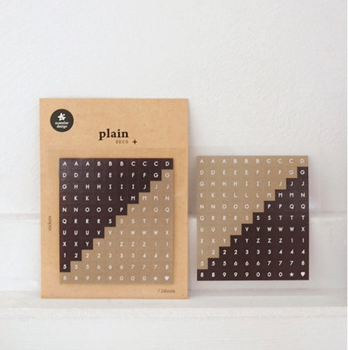 Suatelier stickers alphabet sticker