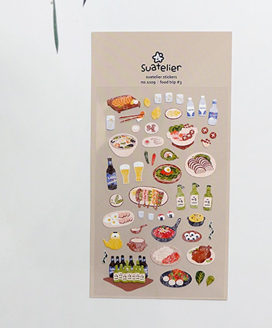 Suatelier Stickers - Food Trip #3 (No. 1109)