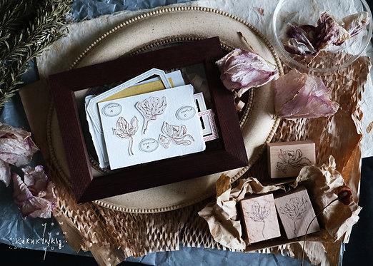 Kurukynki - Dried Orchid Series Rubber Stamp