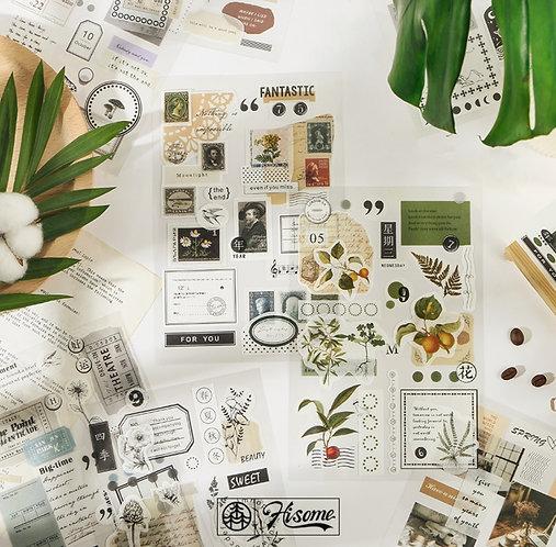 vintage floral sticker sheet