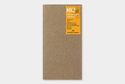 Traveler's Notebook 002 Grid Refill, Regular Size