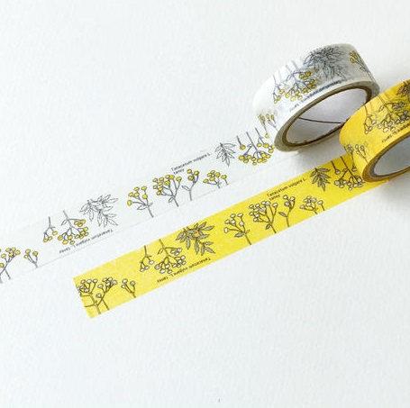 Hutte Botanical Garden Tansy Washi Tape / Masking Tape