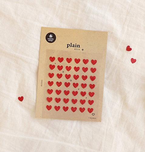 Suatelier Sticker - Plain Glitter Love No. 1618