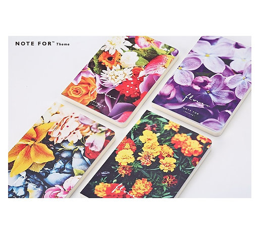 Flower Theme Blank Notebooks - A5 size