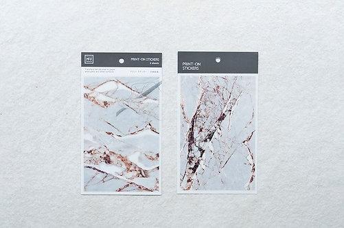 MU Print-On Sticker - Cracking Marble 002