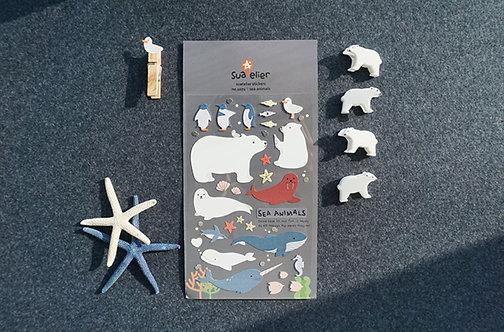 Suatelier stickers Sea animals