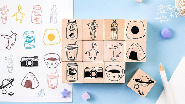 cute things rubber stamps