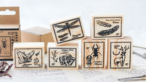 Insects Crystal Deer Rubber Stamp Wooden Series Can Be Used For Stamping On Your Crafts Notebooks Journals Cards Gift Tags Letters