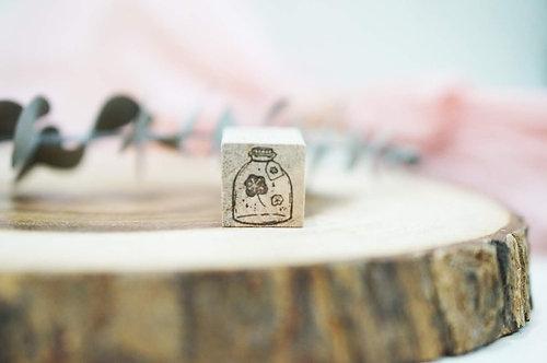 Black Milk Project rubber stamp Mini Jar Flower
