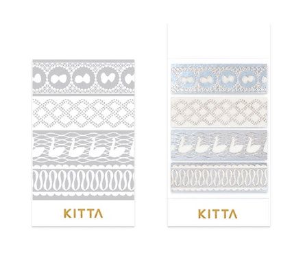 Limited Edition KITTA Washi Tape Stickers - Lace KITL001