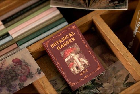 botanical garden vellum paper booklet