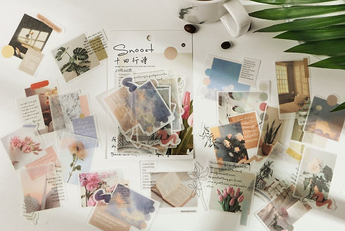 floral and words stickers