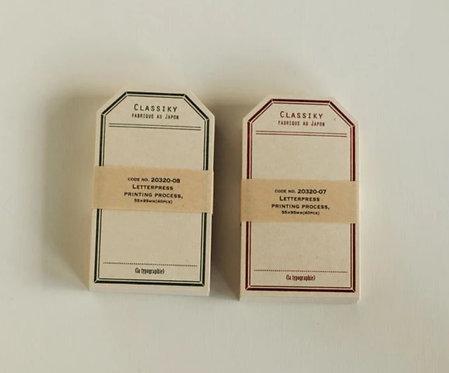Classiky Letterpress Label