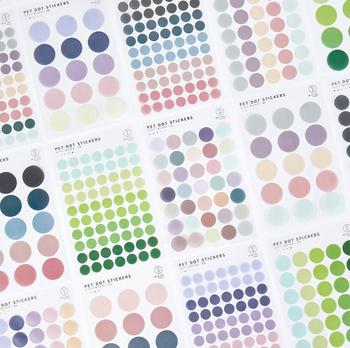 Variety Colors PET Dot Stickers (Choose Set)